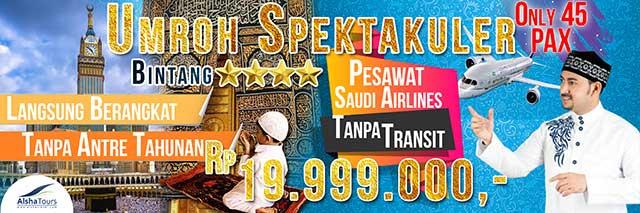 Header Alsha Bintang 4 Paket Umrah Januari 2019