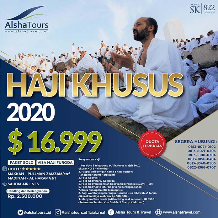 Haji Khusus 2020 Jakarta Visa Furoda