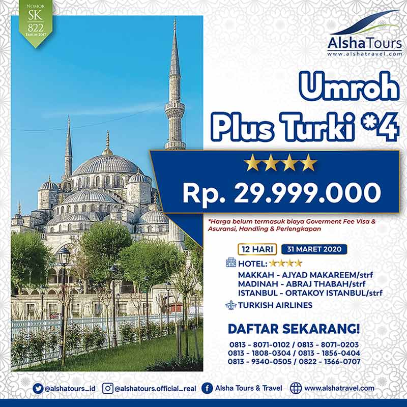 Umroh Plus Turki Tulip 2020 Jakarta